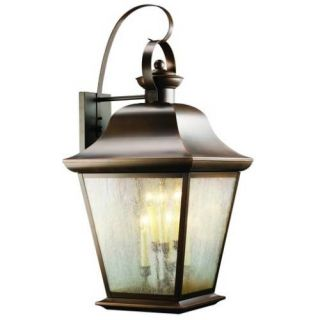 Kichler 9703OZ Outdoor Light, Classic (Formal Traditional) Wall 6 Light Fixture Olde Bronze