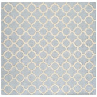 Safavieh Cambridge Light Blue / Ivory Rug CAM130A Rug Size Square 8 x 8
