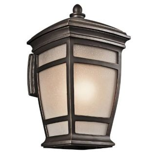 Kichler 49273RZ Outdoor Light, Transitional Wall 1 Light Fixture Rubbed Bronze