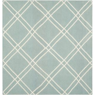 Safavieh Dhurries Light Blue/Ivory Rug DHU638C Rug Size Square 6 x 6
