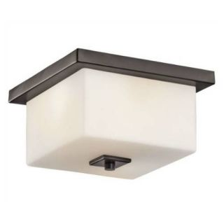 Kichler 49343AZ Outdoor Light, Transitional Flush Mount 2 Light Fixture Architectural Bronze