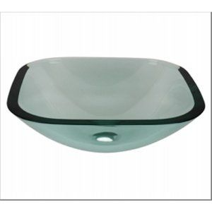 Aquabrass AB GC193 Clear Glass Square Clear Tempered Glass Basin