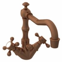 Newport Brass NB932 08A Chesterfield Single Hole Lavatory Faucet, Cross Handles