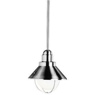 Kichler 2621NI Outdoor Light, Lodge/Country/Rustic/Garden Pendant 1 Light Fixture Brushed Nickel