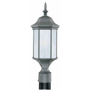 Thomas Lighting THO PL90607 Hawthorne Lantern post Black 1x26W 120V