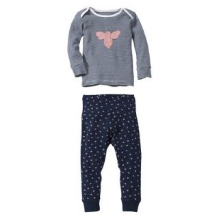 Burts Bees Baby Infant Toddler Girls 2 Piece Long Sleeve Bee Pajama Set