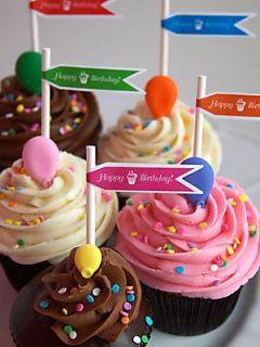SAS Cupcakes Happy Birthday Cupcake Collection   No Color