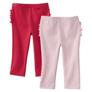 Just One YouMade by Carters Newborn Girls 2 Pack Pant   Pink/Red 3 M