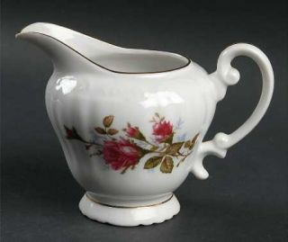 Fine China of Japan Royal Rose Creamer, Fine China Dinnerware   Moss Roses,Embos