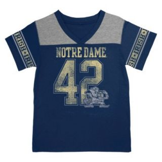 NCAA NAVY GIRLS V NECK T NOTRE DAME   M