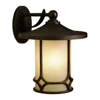 Kichler 9367AGZ Outdoor Light, Arts and Crafts/Mission Wall 1 Light Fixture Aged Bronze