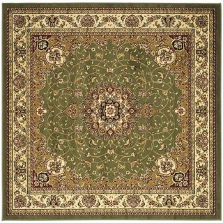 Lyndhurst Collection Traditional Sage/ivory Rug (8 Square)