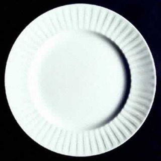Alfred Meakin Leeds Dinner Plate, Fine China Dinnerware   All White, Ribbed Rim,