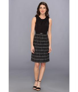 Jones New York Sleeveless Dress w/ Luster Bodice Womens Dress (Black)