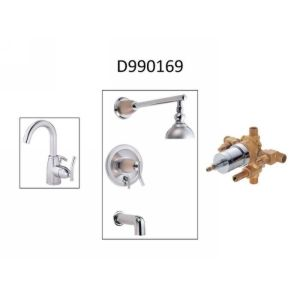 Danze D990169 Sonora  Single Handle Centerset Faucet, Tub & Shower Trim, & Valve