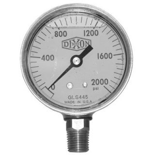 Dixon valve Brass Liquid Filled Gauges   GLBR200