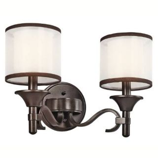 Kichler 45282MIZ Bathroom Light, Transitional Bath 2Light Fixture Mission Bronze