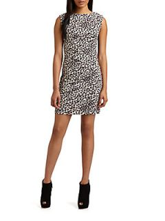 Leopard Print Dress   Black Cream