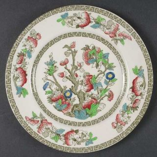 Johnson Brothers Indian Tree (Green Key, Cream) Salad Plate, Fine China Dinnerwa