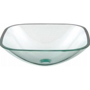 Aquabrass AB GC133 Clear Glass Square Clear Tempered Glass Basin