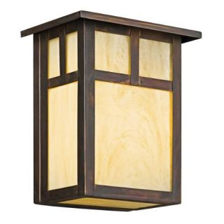 Kichler 9143CV Outdoor Light, Arts and Crafts/Mission Wall Pocket 1 Light Fixture Canyon View
