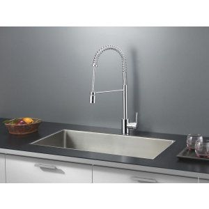 Ruvati RVC2301 Combo Stainless Steel Kitchen Sink and Chrome Faucet Set