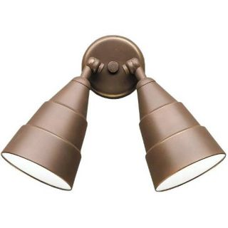 Kichler 6052AZ Outdoor Light, Utilitarian Wall 2 Light Fixture Architectural Bronze