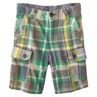 Genuine Kids from OshKosh Infant Toddler Boys Plaid Cargo Short   Green 5T