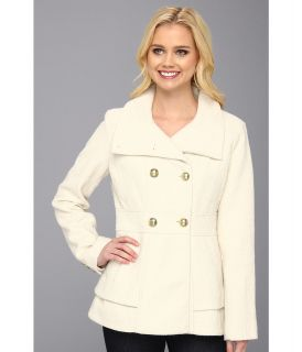 Jessica Simpson Short Double Breasted Coat Womens Coat (White)