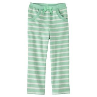 Genuine Kids from OshKosh Infant Toddler Girls Stripe Lounge Pant   Green 5T