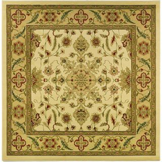 Lyndhurst Collection Ohsak Ivory/ Tan Rug (8 Square)