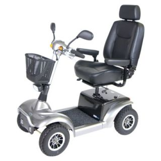 Prowler 3410 4 Wheel Full Size Scooter   20 Captains Seat, Metallic Gray