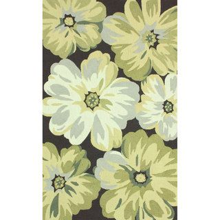 Nuloom Handmade Big Floral Brown Rug (76 X 96)