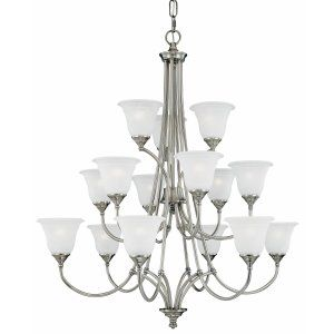 Thomas Lighting THO SL880441 Harmony Chandelier Satin Pewter 15x40W