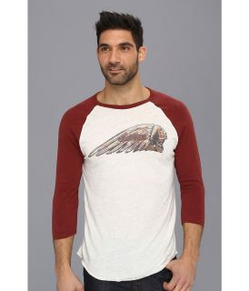 Lucky Brand Indian Moto Painted Raglan Tee Mens T Shirt (Tan)
