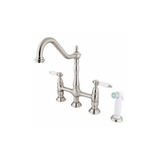 Elements of Design ES1278PL New Orleans Two Handle Kitchen Faucet With Spray