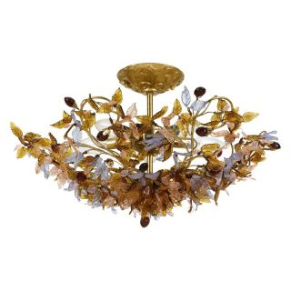 Crystorama Fiore Antique Gold Leaf Mount Light 400 GA   400 GA