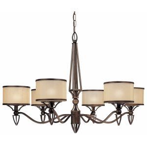 Thomas Lighting THO M313463 Longitude Chandelier Painted Bronze 6x60