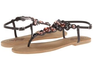 Kenneth Cole Unlisted Coin Toss Womens Sandals (Black)