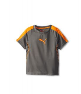 Puma Kids Printed Tee Boys Short Sleeve Pullover (Pewter)