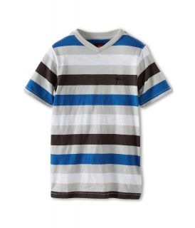 Quiksilver Kids Tower Rip S/S Knit Boys Short Sleeve Knit (Gray)