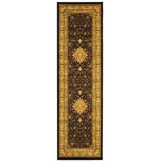 Lyndhurst Collection Mashad Black/ Ivory Runner (23 X 6)
