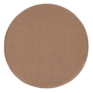 Recife Saddle Stitch Cocoa Rug (76 Round) (BrownSecondary colors Natural beigePattern StripeTip We recommend the use of a non skid pad to keep the rug in place on smooth surfaces.All rug sizes are approximate. Due to the difference of monitor colors, s