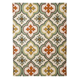 Threshold Floral Bell Hand Tufted Indoor/Outdoor Area Rug   7x10