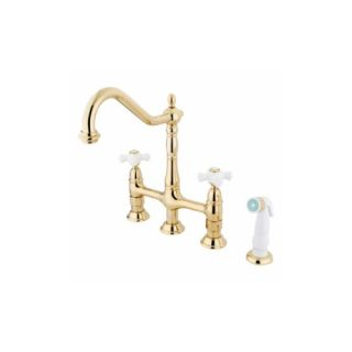 Elements of Design ES1272PX New Orleans Two Handle Kitchen Faucet With Spray