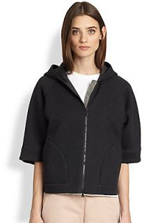 Brunello Cucinelli Hooded Monili Detail Cardigan   Volcano