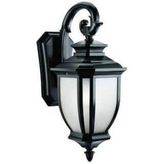 Kichler 9040BK Outdoor Light, Transitional Wall Mount 1 Light Fixture Black (Painted)