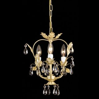 Crystorama Paris Flea Market Mini Chandelier   12W in. Champagne Multicolor
