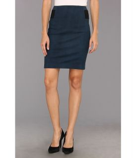 Rebecca Taylor Leather Pencil Skirt Womens Skirt (Blue)