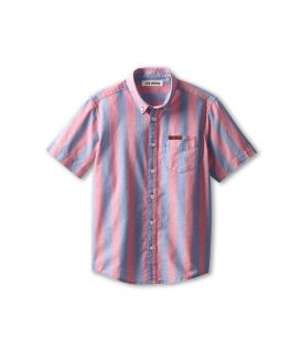 Ben Sherman Kids Luc S/S Shirt Boys Short Sleeve Button Up (Pink)